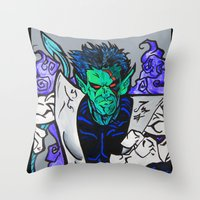 nightcrawler Throw Pillows featuring Nightcrawler by Hugo Maldonado