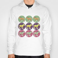 horses Hoodies featuring Horses by Bluetiz