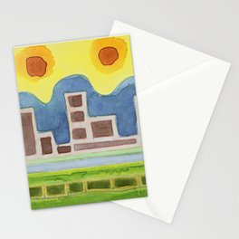 Surreal Simplified Cityscape Stationery Cards