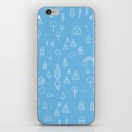 my blue chalkboard  iPhone Skin