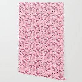 Pink Flamingos Print Wallpaper