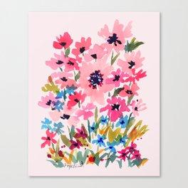 Peachy Wildflowers Canvas Print