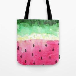 Watercolor Watermelon Tote Bag