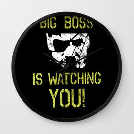 Big Boss is watching you Wall Clock