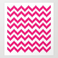 Fair Isle Chevron Art Print