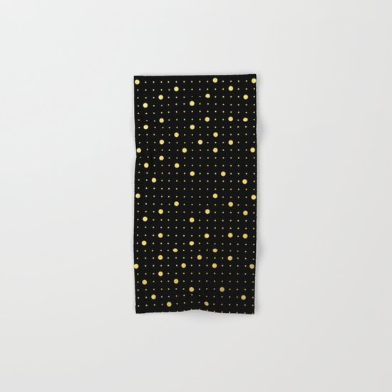 Pin Points Gold Hand & Bath Towel