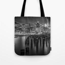 Manhattan Skyline at Sunset | Monochrome Tote Bag