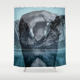 Under the surface Shower Curtain