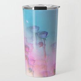 Pretty Pink Roses Travel Mug