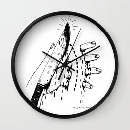 CHOP HERE Wall Clock