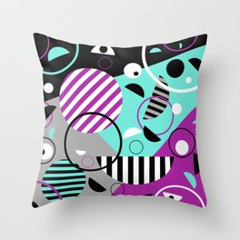 Bits And Bobs - Abstract, geometric design Throw Pillow