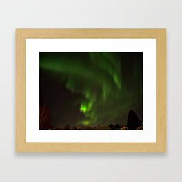 Northern lights in the North of Sweden Framed Art Print