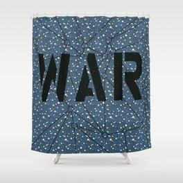War blue Shower Curtain