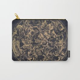 Vintage Constellations & Astrological Signs | Yellowed Ink & Cosmic Colour Carry-All Pouch
