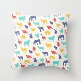 Best animal silhouette pattern design Throw Pillow
