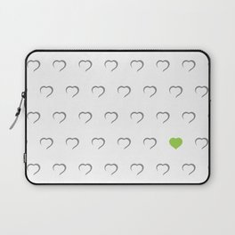 Hearts - Green Laptop Sleeve
