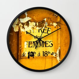Old French Signage In Nice Wall Clock