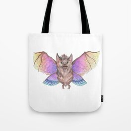 Marvelous Things - Bat with Butterfly Wings Tote Bag