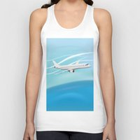 airplane Tank Tops featuring Airplane by salamandra7