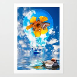 Flowering Bulb Art Print