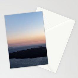 Santorini Volcano at Sunset Stationery Cards