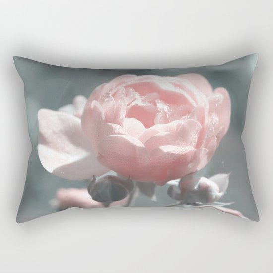 Romantic rose at Backlight- roses Rectangular Pillow
