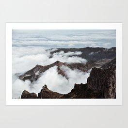 Cloudy Mountain Hike. Madeira Island, Portugal. Fine Art Nature Print. Photo Wall Art. Art Print