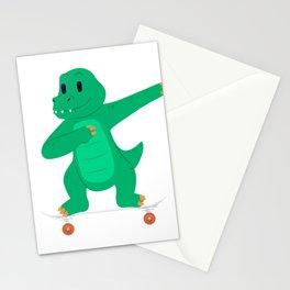 Skateboarding Crocodile Gator on Skateboard Gift for Skater  Stationery Cards