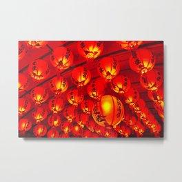 Lanterns Metal Print