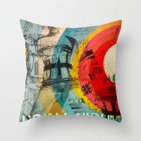 inner demons Throw Pillows featuring DEMONS by Leonardo Tezcucano