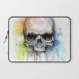 Skull Rainbow Watercolor Laptop Sleeve