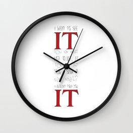 I saw IT Wall Clock