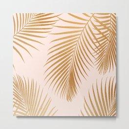 Tropical Escape / Golden Palm Fronds Metal Print