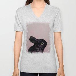 Black Bunny Unisex V-Neck