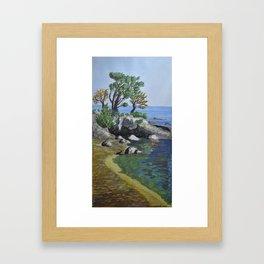 Windy Beach Framed Art Print