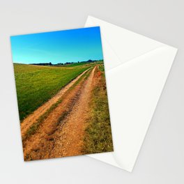 Endless trail near the border Stationery Cards