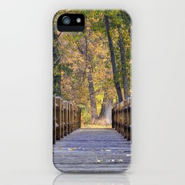 Yosemite Footbridge Fall Color   10-22-17  iPhone Case