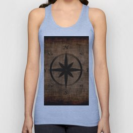 Nostalgic Old Compass Rose Unisex Tank Top