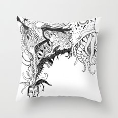 Mr Lovercraft's monsters Throw Pillow