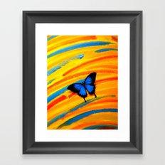 Blue Swallowtail on #3 Framed Art Print