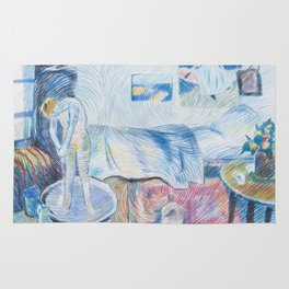 The Blue room - after Picasso Rug