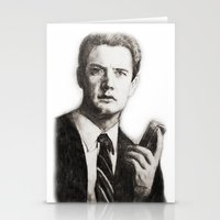 dale cooper Stationery Cards featuring TWIN PEAKS - AGENT COOPER by William Wong