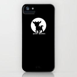Goat Games Black&White iPhone Case