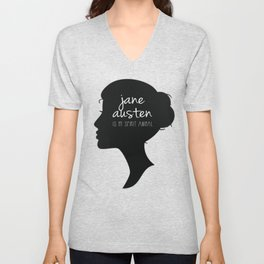 Jane Austen is My Spirit Animal Unisex V-Neck