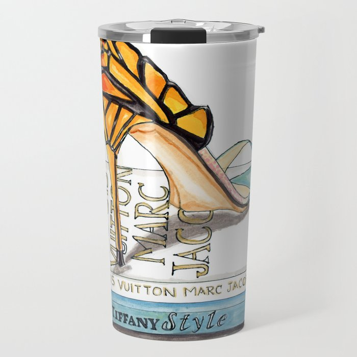 Butterfly Wing Sandals Travel Mug