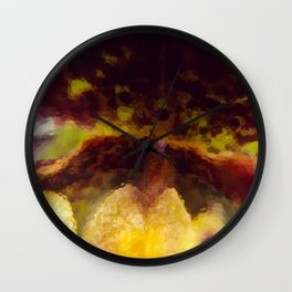 Painted Ladyslipper Orchid Wall Clock