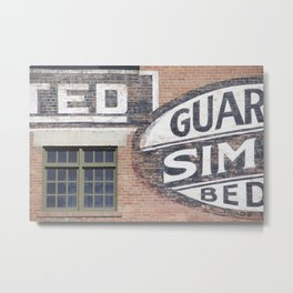 Red brick logos East Village Metal Print