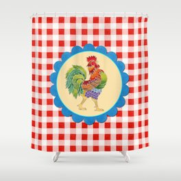 Rise and Shine Rooster Shower Curtain