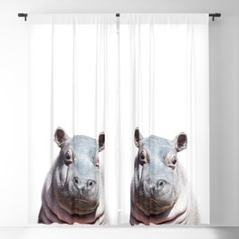 Baby Hippo, Baby Animals Art Print By Synplus Blackout Curtain