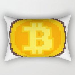 Pixel art Bitcoin coin Rectangular Pillow